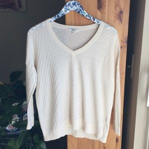 Madewell Lakeview Pullover in Ivory, Size Small